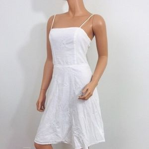 vintage 90s city triangles sundress white eyelet s